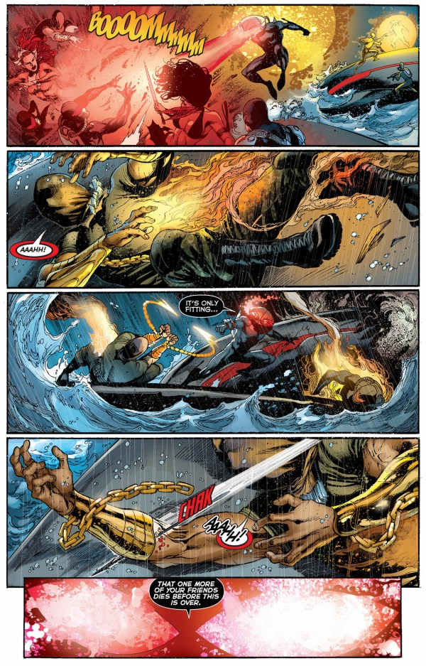 aquaman and the others vs black manta