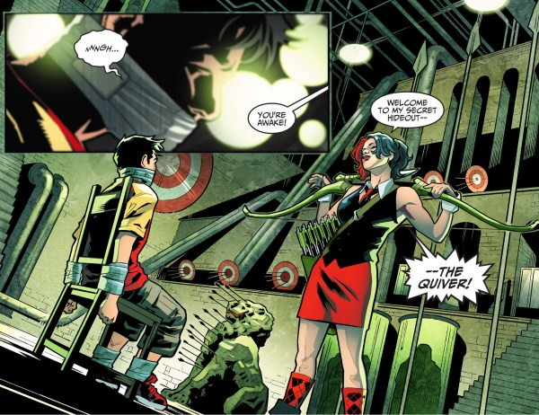 harley quinn takes billy batson to the quiver