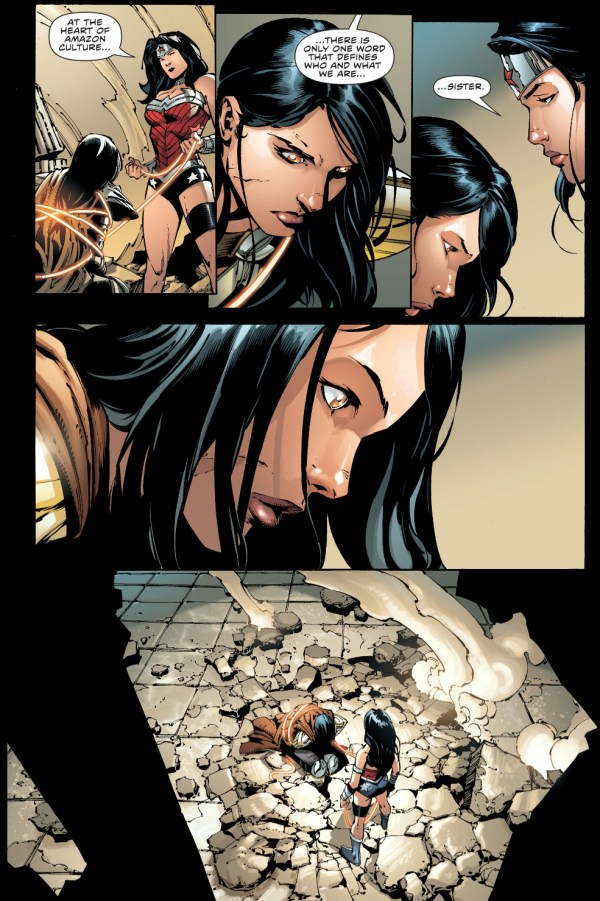 wonder woman takes down donna troy