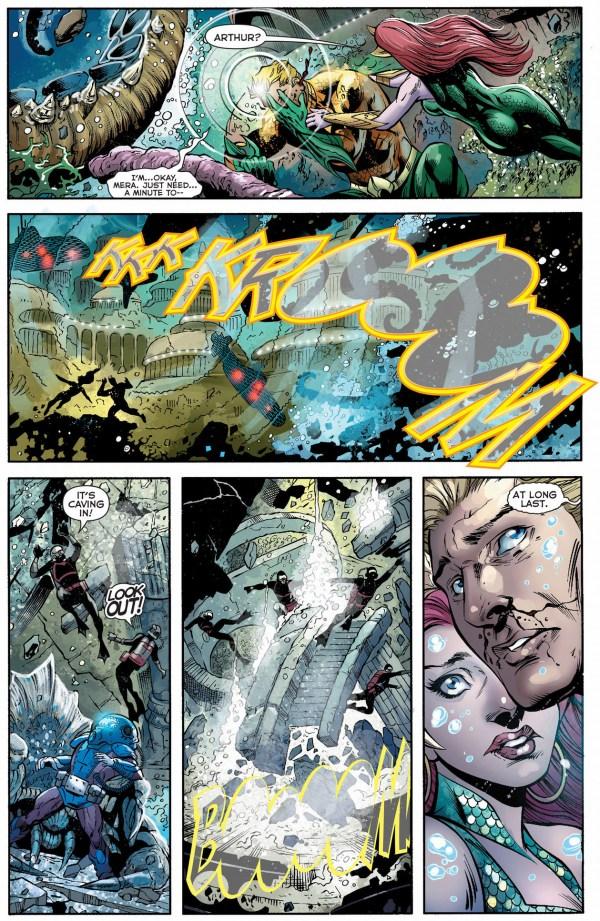aquaman uses topo to attack the scavenger's fleet