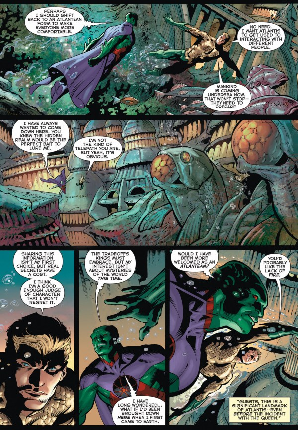 martian manhunter muses about being an atlantean