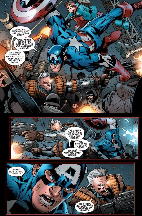 captain america, bucky and cable vs s nazi sentinel