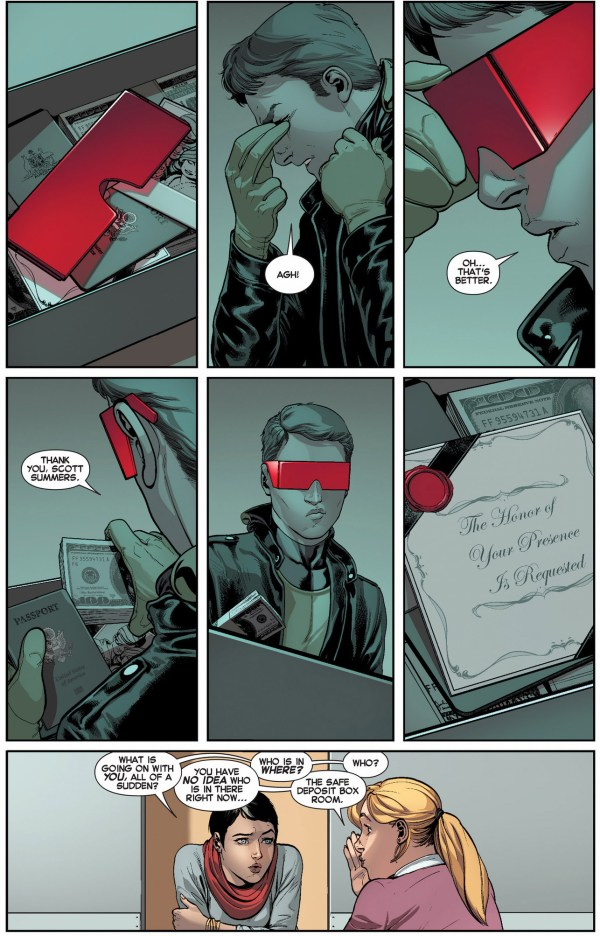 original 5 cyclops opens his safety deposit box