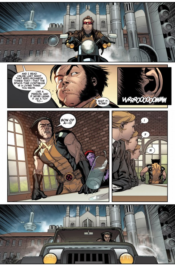 original 5 cyclops steals wolverine's motorcycle