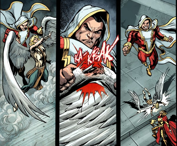 shazam breaks eros's wing