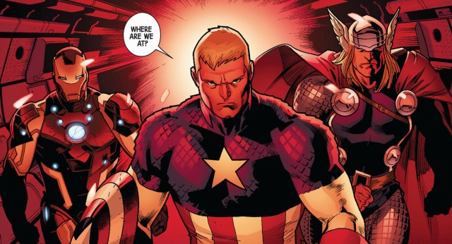 captain america, iron man and thor (fear itself)