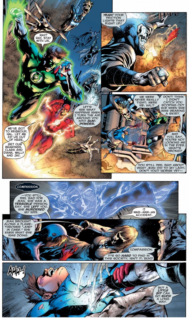 green lantern, the atom and the flash vs black lantern justice league