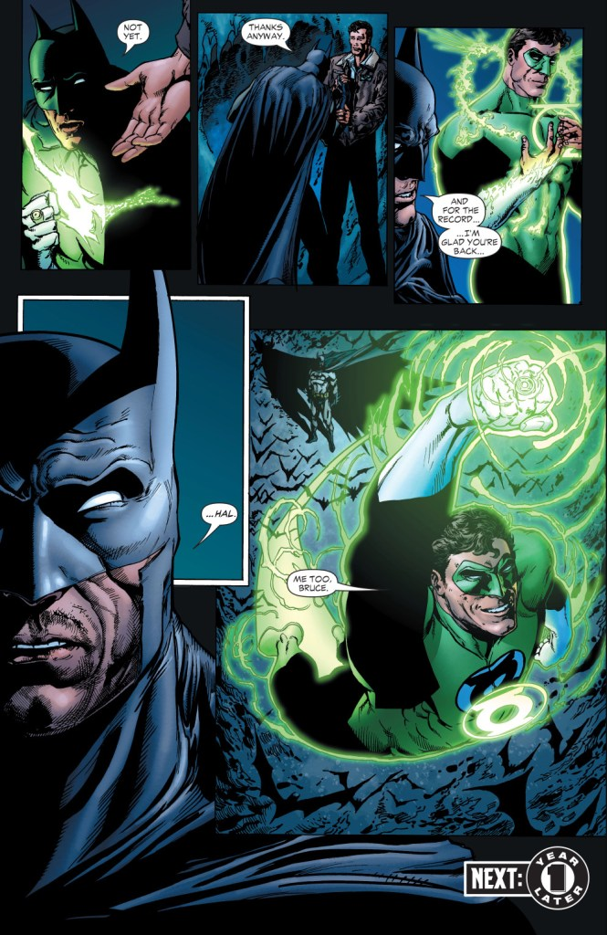 batman wears green lantern's ring