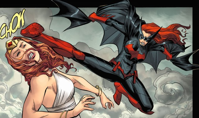 batwoman's flying kick to hera