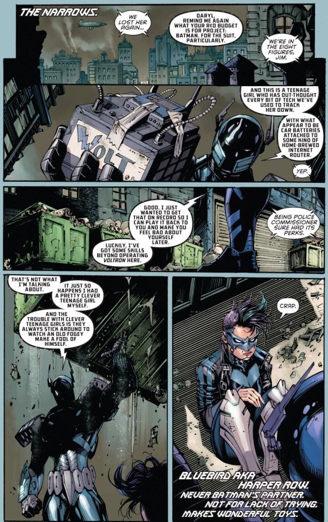 bluebird takes down the new batman