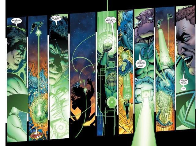 green lanterns vs ganthet-parallax