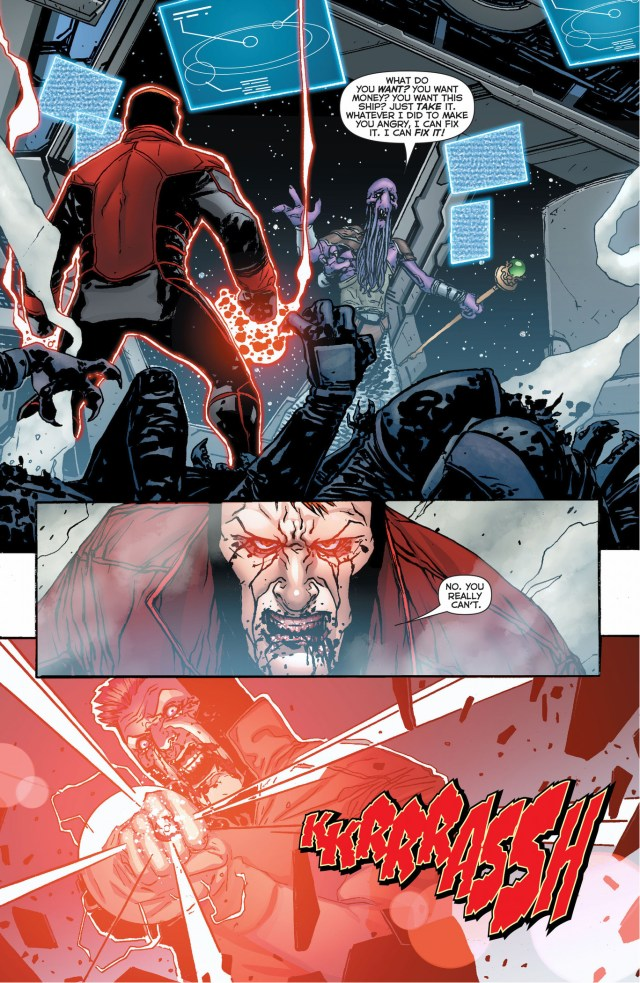red lantern guy gardner's first kill