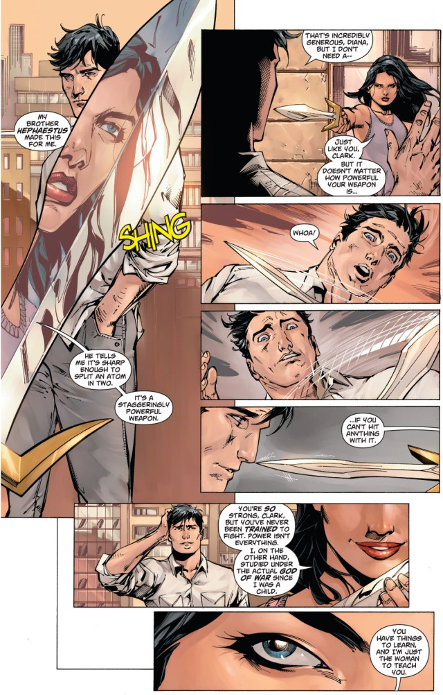 wonder woman's assessment of superman's skills
