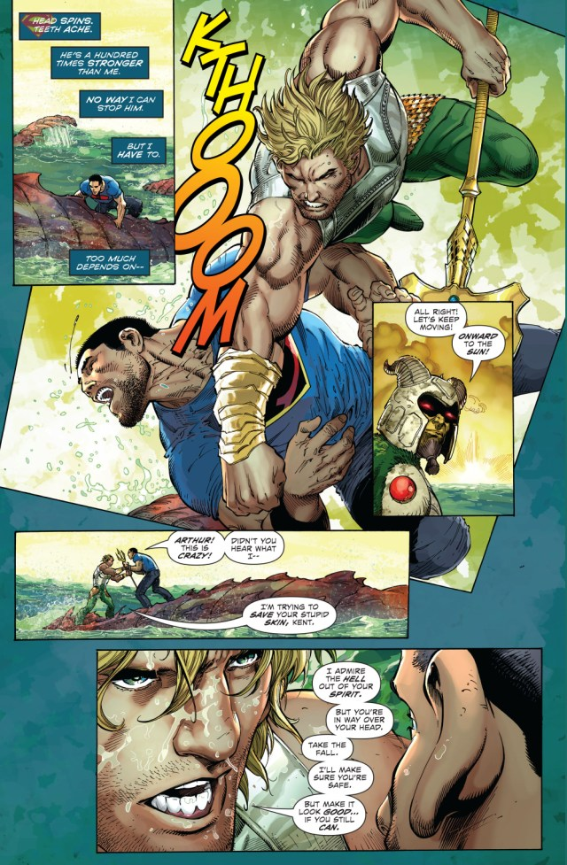 aquaman vs superman (new 52)