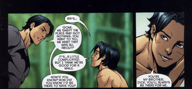 batman (dick grayson) rescues red robin