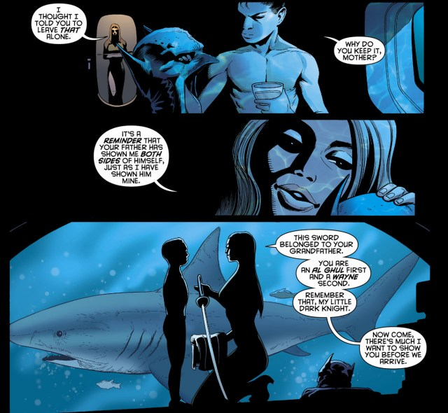 damian wayne's first meeting with his father
