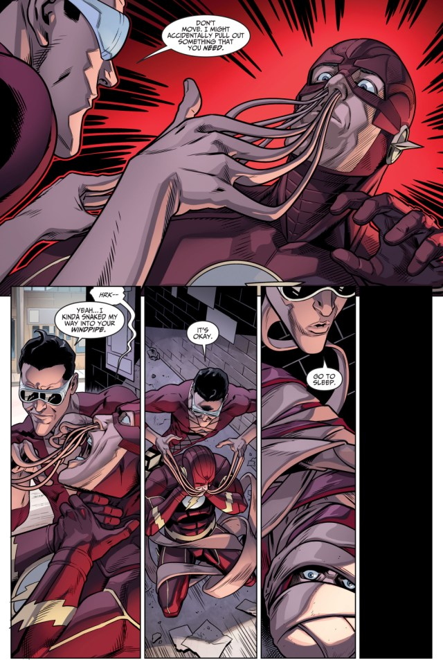 plastic man takes out the flash (injustice gods among us)