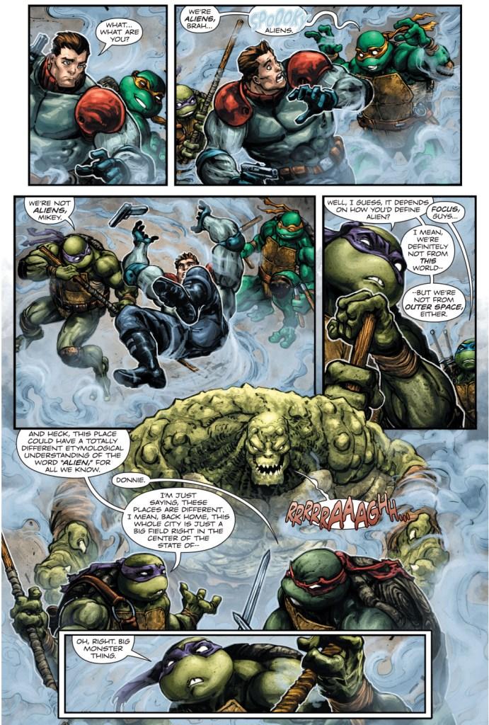 teenage mutant ninja turtles vs killer croc