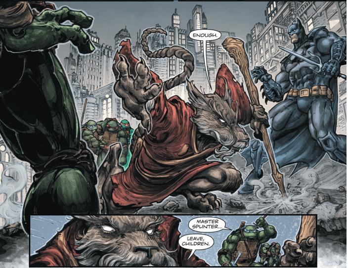 batman vs master splinter