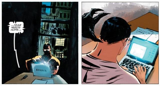 batman's sneak attack on clark kent (american alien)