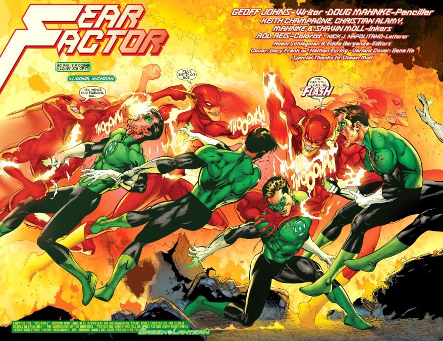 green lantern hal jordan vs parallax-flash