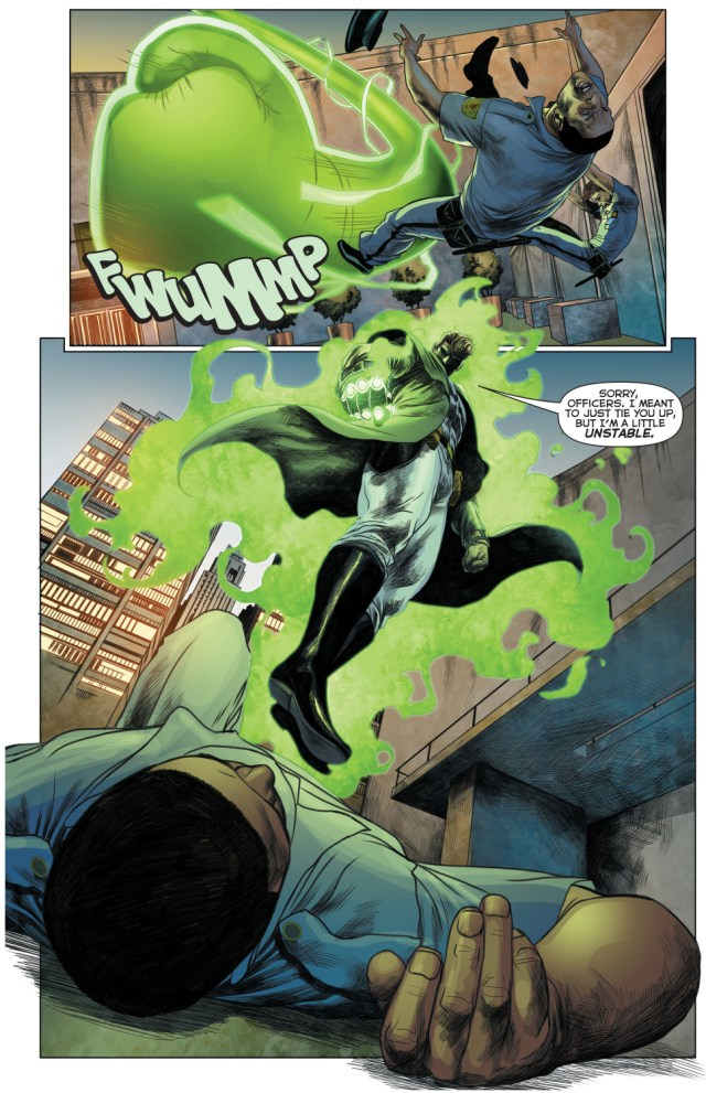 hal jordan using a giant fist (green lantern 49)