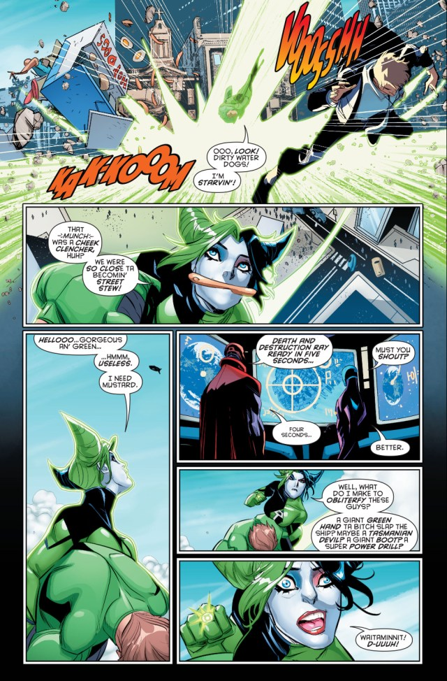 harley quinn wears a green lantern ring