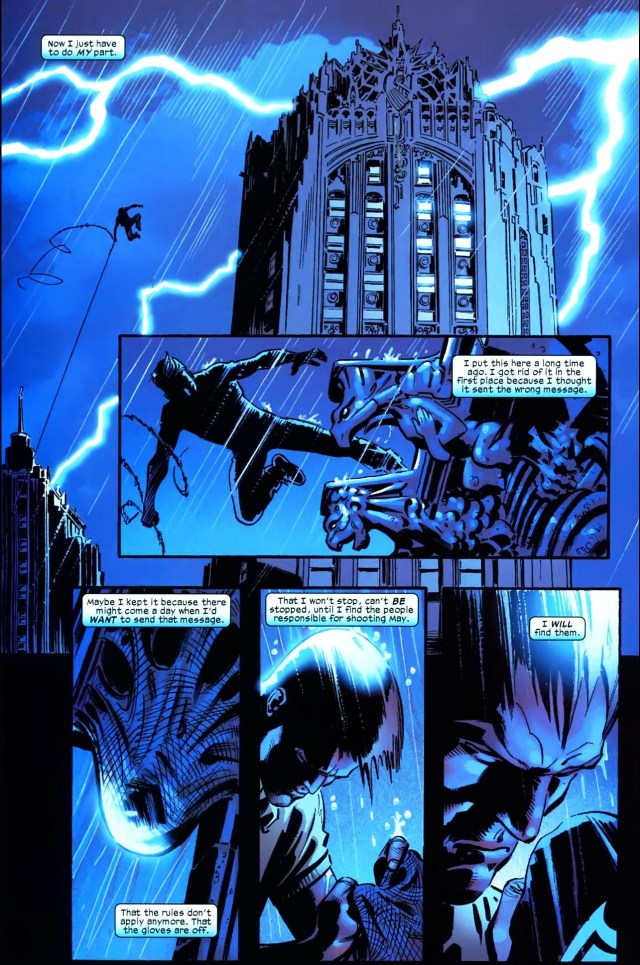 spider-man's reason for wearing the black costume