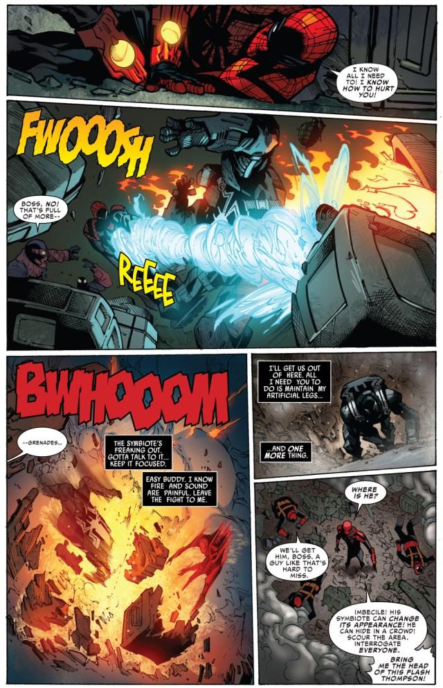 agent venom escapes from superior spider-man