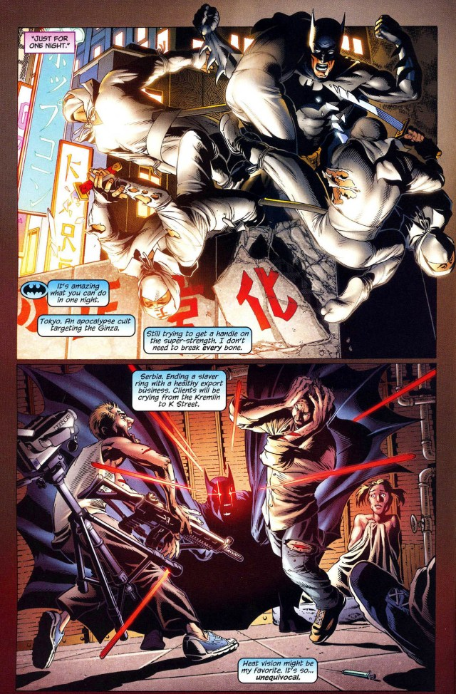 batman patrols the world using superman's powers
