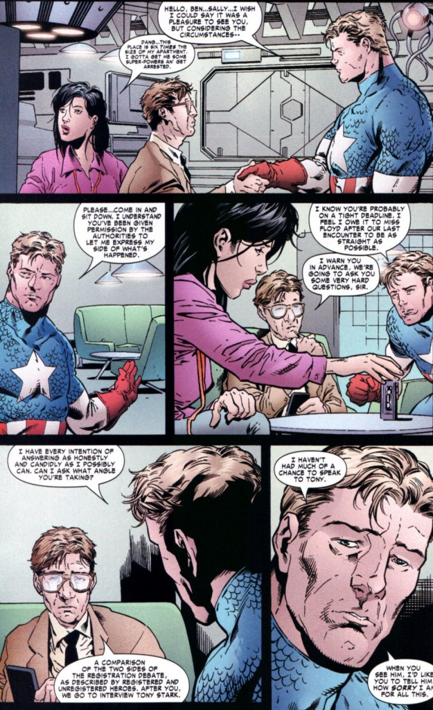 captain america's interview after the civil war