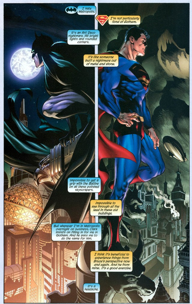 superman and batman hates each other's cities