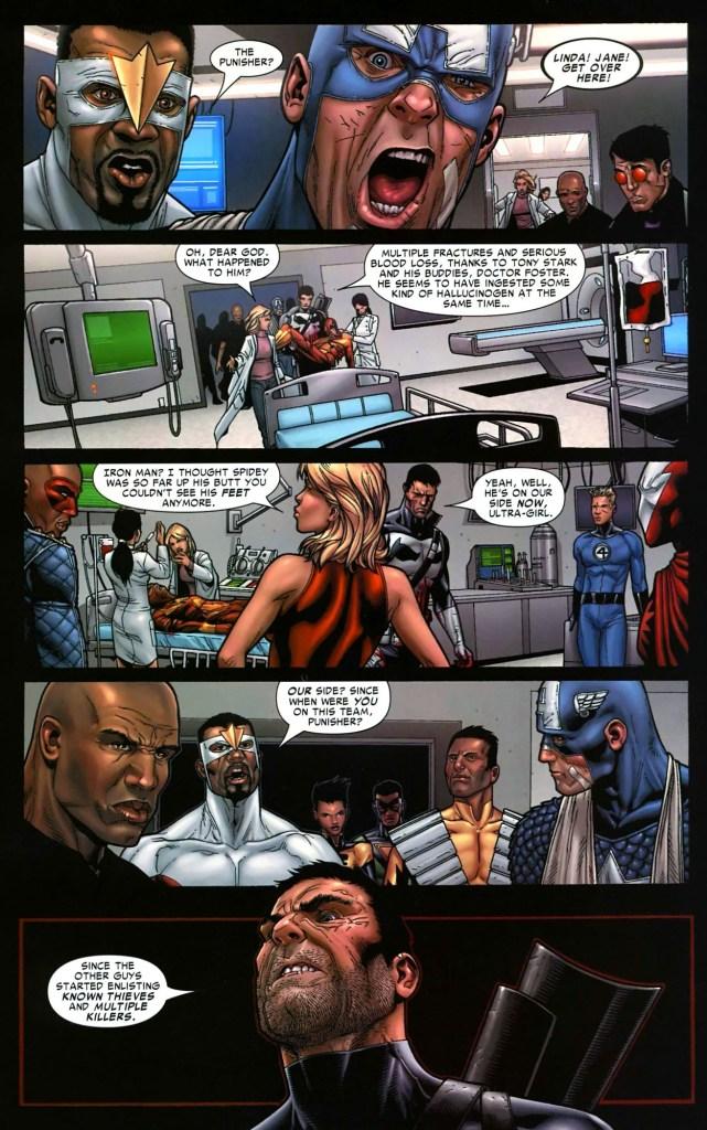 the punisher chooses captain america's side (civil war)