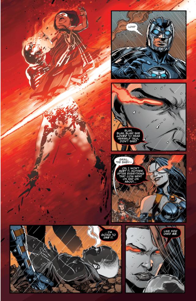 Grail Kills Superwoman (Darkseid War)