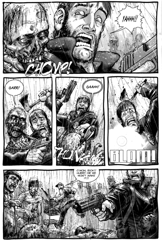 Rick Grimes And Glenn Rhee VS Walkers (The Walking Dead #4)