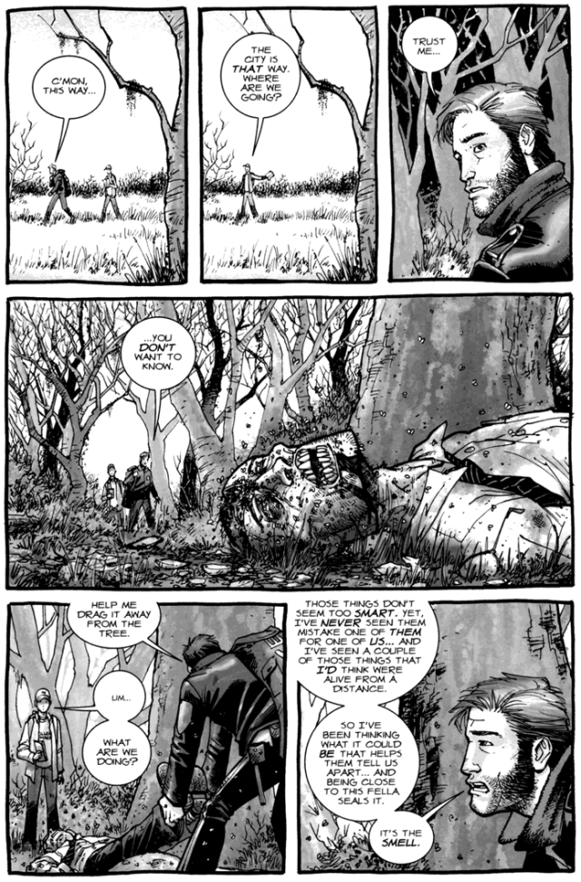 Rick Grimes's Camouflage Against Walkers