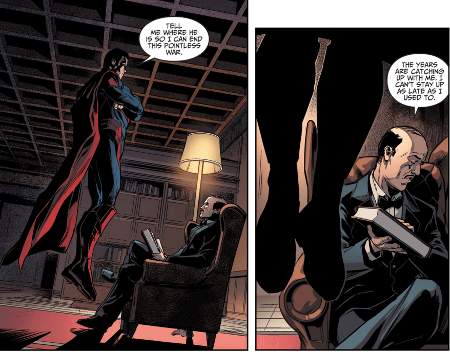 Superman Threatens Alfred Pennyworth (Injustice Gods Among Us)
