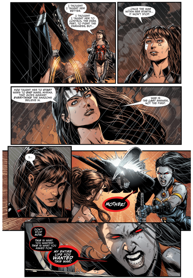 Wonder Woman Defeats Grail And Darkseid (Darkseid War)