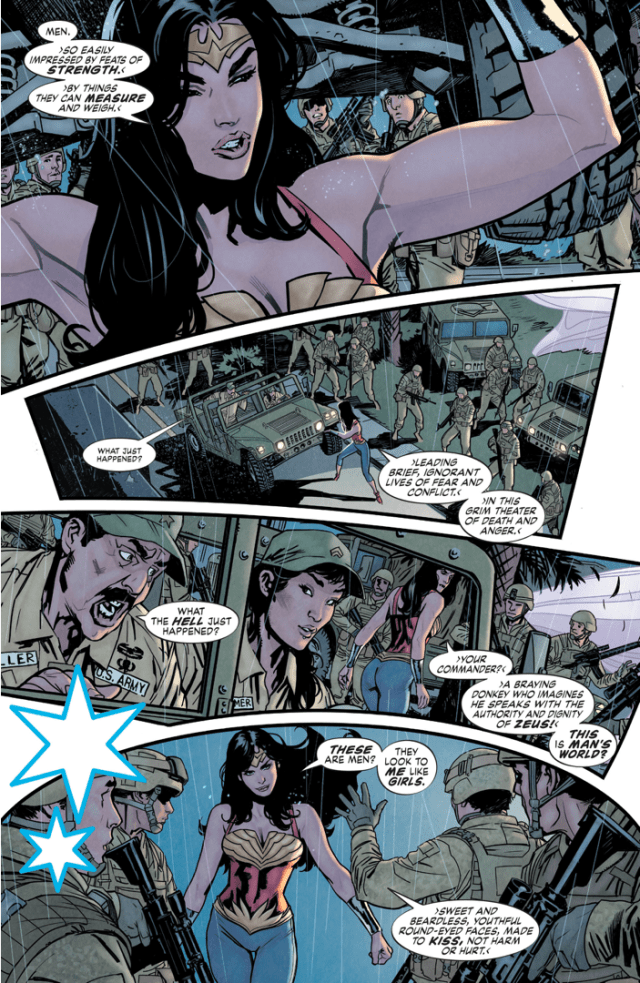 Wonder Woman Is Disgusted With Man's World (Earth 1)