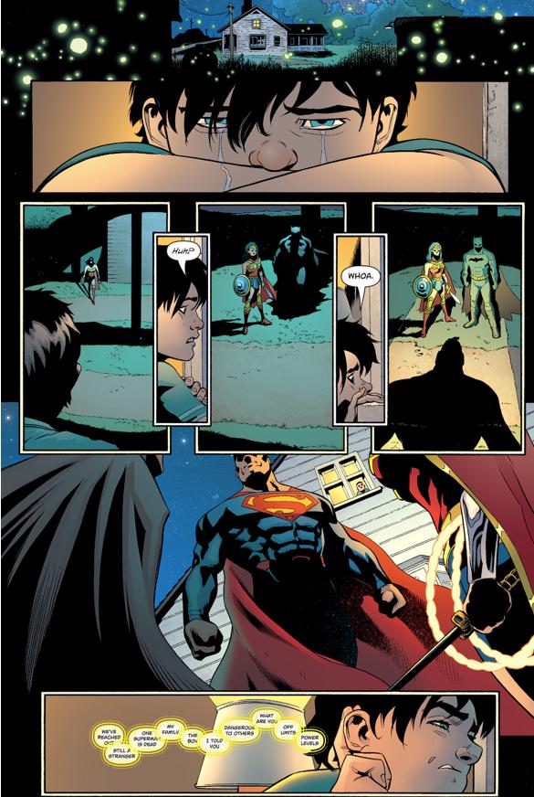 Jonathan Kent Eavesdrop On Superman, Batman And Wonder Woman