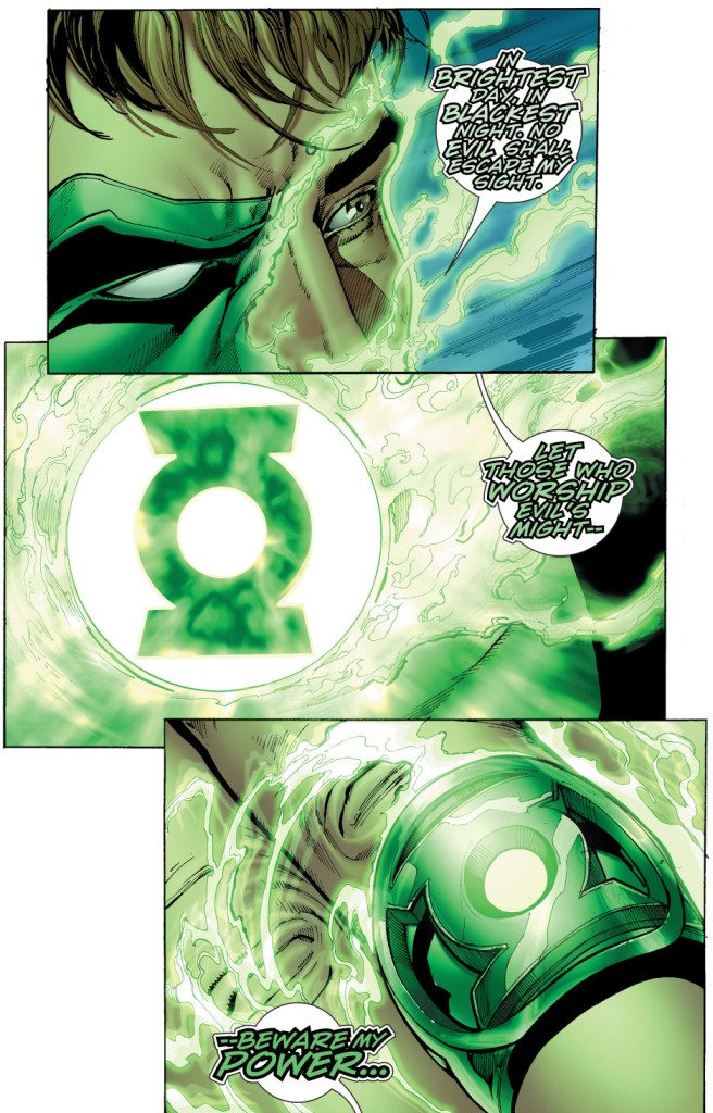 hal jordan crafts his own green lantern ring