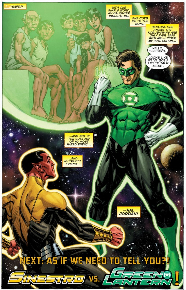 hal jordan is sinestro's most hated enemy and truest friend
