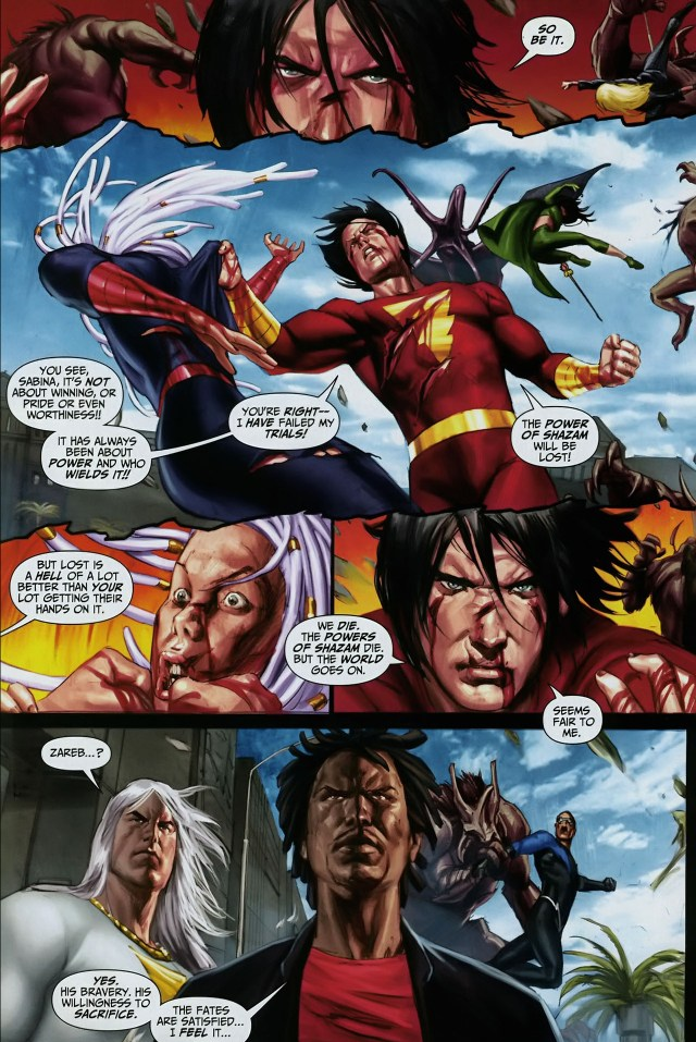 how freddy freeman passed the last trial (trials of shazam)