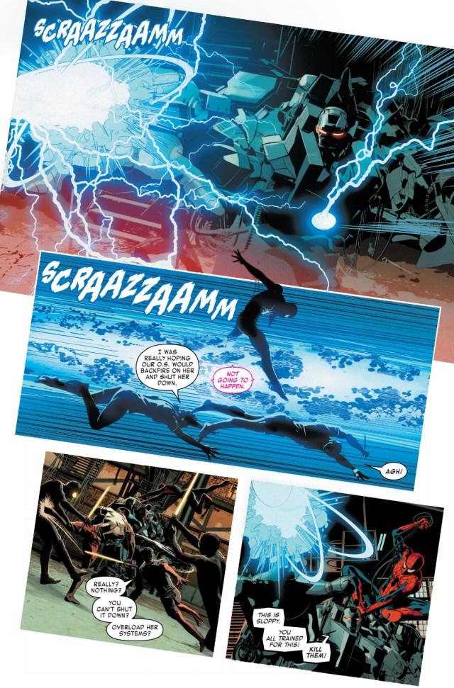 Techno Golem Absorbs Iron Man And War Machine's Armors