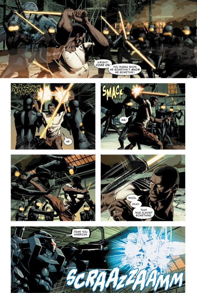War Machine VS Techno Golem And Cyber Ninjas