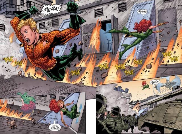 The United States Military Attacks Aquaman And Mera