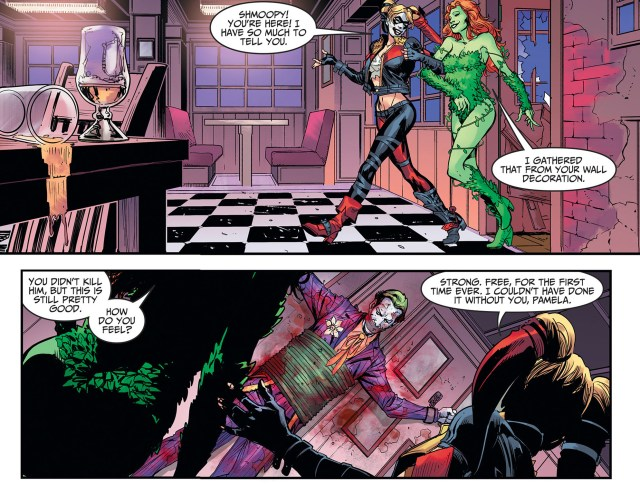 Harley Quinn And Poison Ivy Kiss (Injustice Gods Among Us)