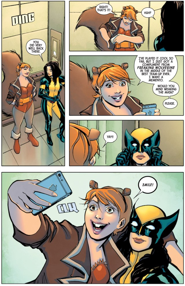 All New Wolverine And Squirrel Girl Take A Selfie