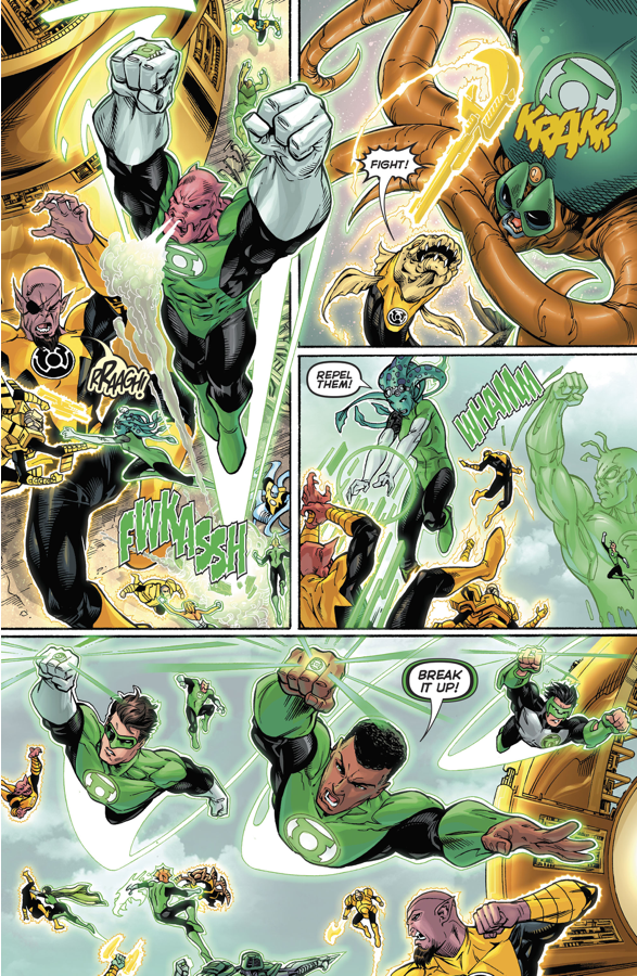 Guy Gardner And Arkillo As Their Corps Enforcers