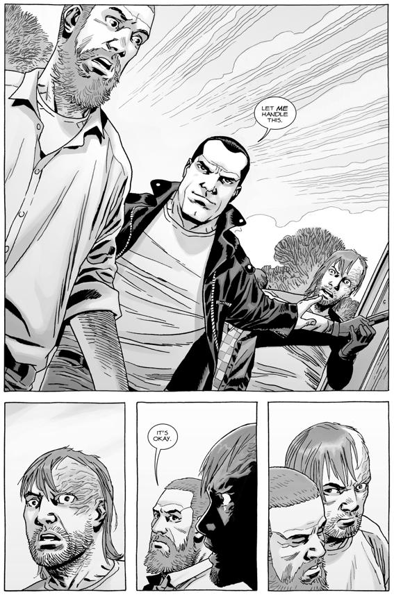 Negan Defends Rick Grimes Against The Saviors (The Walking Dead)